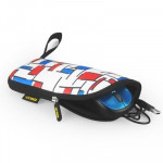 ENKAY ENK-2003R1 2-color Lattice Pattern Thermal Printing Soft Multi-function Mouse Pad (Red + Blue)