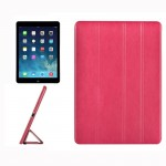 For iPad Air / iPad 5 Crazy Horse Texture Horizontal Flip Leather Case with 4-folding Holder(Magenta)