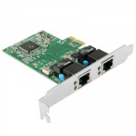 PCI-Express Dual Gigabit Ethernet Controller Card Adapter 2 Port RJ45 10/100/1000 BASE-T (IO-PCE8111-2GLAN)
