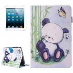 For iPad mini 4 / 3 / 2 / 1 Painting Panda Pattern Horizontal Flip Leather Case with Holder & Wallet & Card Slots & Pen Slot