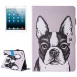 For iPad mini 4 / 3 / 2 / 1 Painting Bulldog Pattern Horizontal Flip Leather Case with Holder & Wallet & Card Slots & Pen Slot