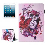 For iPad mini 4 / 3 / 2 / 1 Painting Butterfly and Owl Pattern Horizontal Flip Leather Case with Holder & Wallet & Card Slots &