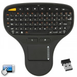 2.4GHz Mini Wireless Keyboard with Touchpad & USB Mini Receiver, Size: 137 x 125 x 28mm(Black)
