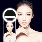 AA Battery Selfie Flash Light for Phones with Adjustable Clip(Black)