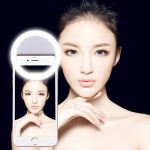 AA Battery Selfie Flash Light for Phones with Adjustable Clip(White)