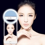 Charging Selfie Beauty Light for Phones with Adjustable Clip & USB Cable(Blue)