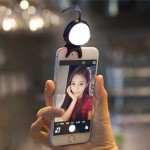 For Smart Phone Self Light with Hook(Black)