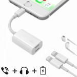 For iPhone 7 & 7 Plus 8 Pin Male to 8 Pin Female Sync Data / Charger & 8 Pin Female Audio Adapter, Support iOS 10.3.1 or Above M