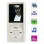 1.8 inch TFT Screen Metal MP4 Player with TF Card Slot, Support Recorder, FM Radio, E-Book and Calendar (Silver)