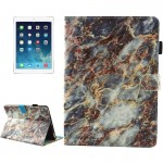 For iPad 9.7 inch 2017 / iPad Air / iPad Air 2 Universal Colorful Marble Pattern Horizontal Flip Leather Protective Case with Ho