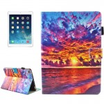 For iPad mini 4 / mini 3 / mini 2 / mini Universal Sunset Landscape Pattern Horizontal Flip Leather Protective Case with Holder