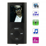 1.8 inch TFT Screen Metal MP4 Player with TF Card Slot, Support Recorder, FM Radio, E-Book and Calendar (Black)