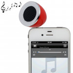 3.5mm Mobile Phone Speaker for iPhone 4 & 4S / 3GS / 3G / iPod , iPad , MP3(Red)