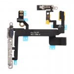 iPartsBuy for iPhone 5s Power Button & Flashlight & Volume Button & Mute Switch Flex Cable with Brackets