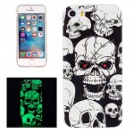 For iPhone 5 & 5s & SE Noctilucent Red Eye Ghost Pattern IMD Workmanship Soft TPU Back Cover Case