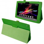 Litchi Texture Leather Case with Holder for Sony Xperia Tablet Z / 10.1(Green)
