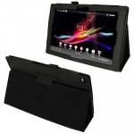Litchi Texture Leather Case with Holder for Sony Xperia Tablet Z / 10.1(Black)