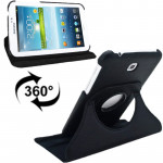 360 Degrees Rotation Litchi Texture Leather Case with Holder for Samsung Galaxy Tab 3 (7.0) / P3200 / P3210(Black)