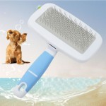 Pet Hair Combs Stainless Steel Needle Hairdressing Brush Tool with Small Comb, Random Color Delivery, S, Total Length: 13.5cm