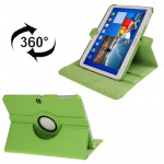 360 Degree Rotation Litchi Texture Leather Case with Holder for Samsung Galaxy Tab 3 (10.1) / P5200 / P5210, Green(Green)