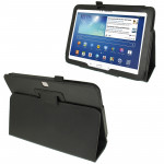 Litchi Texture Leather Case with Holder for Samsung Galaxy Tab 3 (10.1) / GT-P5200 (Black)