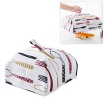 Foldable Thickened Aluminum Foil Food Heat Preservation Cover, Size: S (22 x 22 x 11.5cm)(Red)