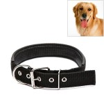 Foam Cotton Polyester Pet Collars Pet Neck Strap Dog Neckband Cats Dogs Collars, 3.5cm x 57cm (Black)