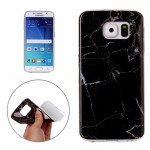 For Samsung Galaxy S6 / G920 Black Marbling Pattern Soft TPU Protective Back Cover Case