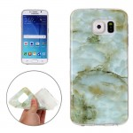 For Samsung Galaxy S6 / G920 Green Marbling Pattern Soft TPU Protective Back Cover Case
