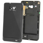 3 in 1 for Samsung Galaxy S II / i9100 (Original Back Cover + Original Volume Button + Original Full Housing Chassis)(Black)