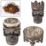 Skull King Style Zinc Alloy Double Layers Herb Tobacco Cigarette Grinder (Bronze)