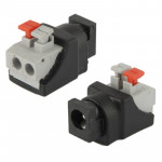 5.5mm x 2.1mm DC Power Male Jack to 2 Conductor Screw Down Connector for LED Light Controller