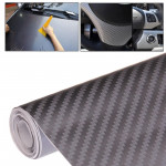 Car Decorative 3D Carbon Fiber PVC Sticker, Size: 127cm x 50cm