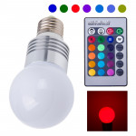1W E27 RGB LED Lamp with Remote Controller