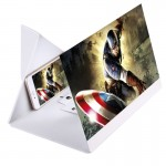 12.0 inch Universal Foldable Portable PU + Organic Glass Eyeshield 3D Video Mobile Phone Screen Magnifier Bracket Enlarge with H