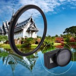 52mm 3 in 1 Round Circle UV Lens Filter with Cap for GoPro HERO5