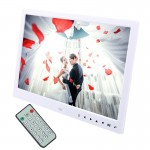 13.0 inch LED Display Digital Photo Frame with Holder / Remote Control, Allwinner, Support USB / SD Card Input / OTG (White)