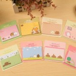 8 Pack Capybara Fat Rabbit Sticky Notes Book Random Color Delivery (Cover Colors: Capybara Fat Rabbit series)