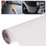 Car Decorative 3D Carbon Fiber PVC Sticker, Size: 127cm x 50cm(Transparent)