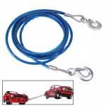5 Tons Steel Vehicle Towing Cable Rope, Length: 4m(Blue)