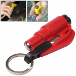 3 in 1 Car Emergency Hammer / Key Chain / Knife Broken Glass Portable Tool(Red)
