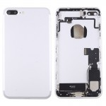 iPartsBuy for iPhone 7 Plus Battery Back Cover Assembly with Card Tray(Silver)