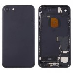 iPartsBuy for iPhone 7 Battery Back Cover Assembly with Card Tray(Black)