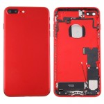 iPartsBuy for iPhone 7 Plus Battery Back Cover Assembly with Card Tray(Red)