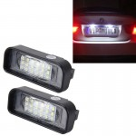 2 PCS License Plate Light with 18 SMD-3528 Lamps with Canbus for Mercedes-Benz W220,2W 120LM,6000K, DC12V(White Light)