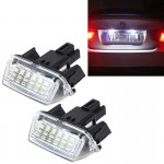 2 PCS License Plate Light with 18 SMD-3528 Lamps for Toyota,2W 120LM,6000K, DC12V(White Light)