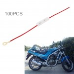 100 PCS Motorcycle Fuse Insurance Box with Power Cable