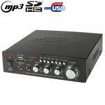 AK-601 Stereo Audio Karaoke Power Amplifier, Support SD Card / USB Flash Disk(Black)
