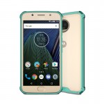 For Motorola Moto G5S Plus Transparent Shockproof TPU Protective Back Cover Case(Green)