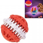 Dog Toy Balls for Pets Tooth Cleaning Chewing Toys Balls of Non-Toxic Soft Rubber , Small Size (Red)